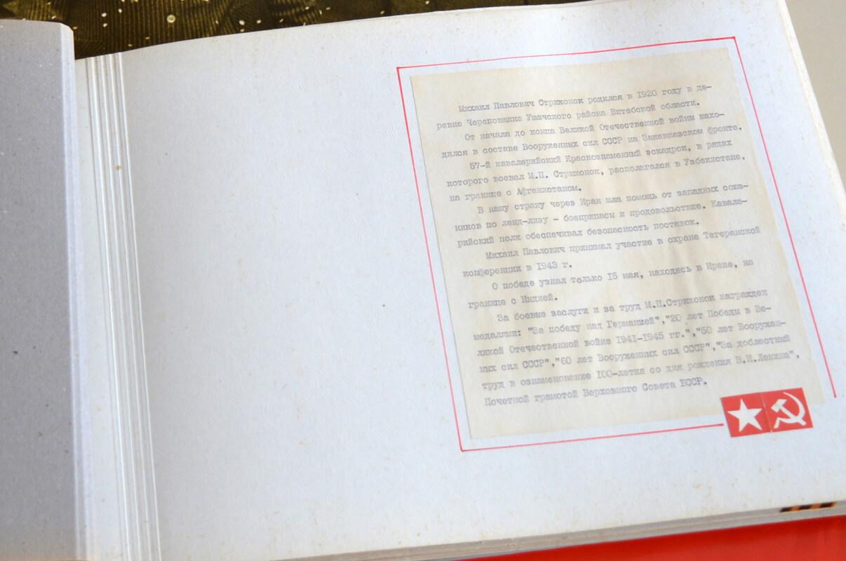 Описание боевого пути М. П. Стрижонка
