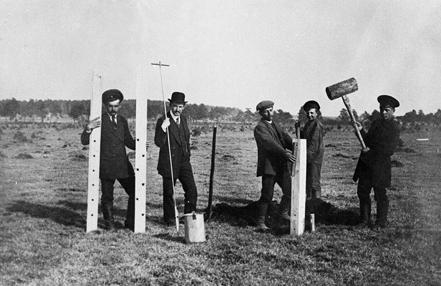 Строительство Минской опытной болотной станции на Комаровском болоте, 1911 г.