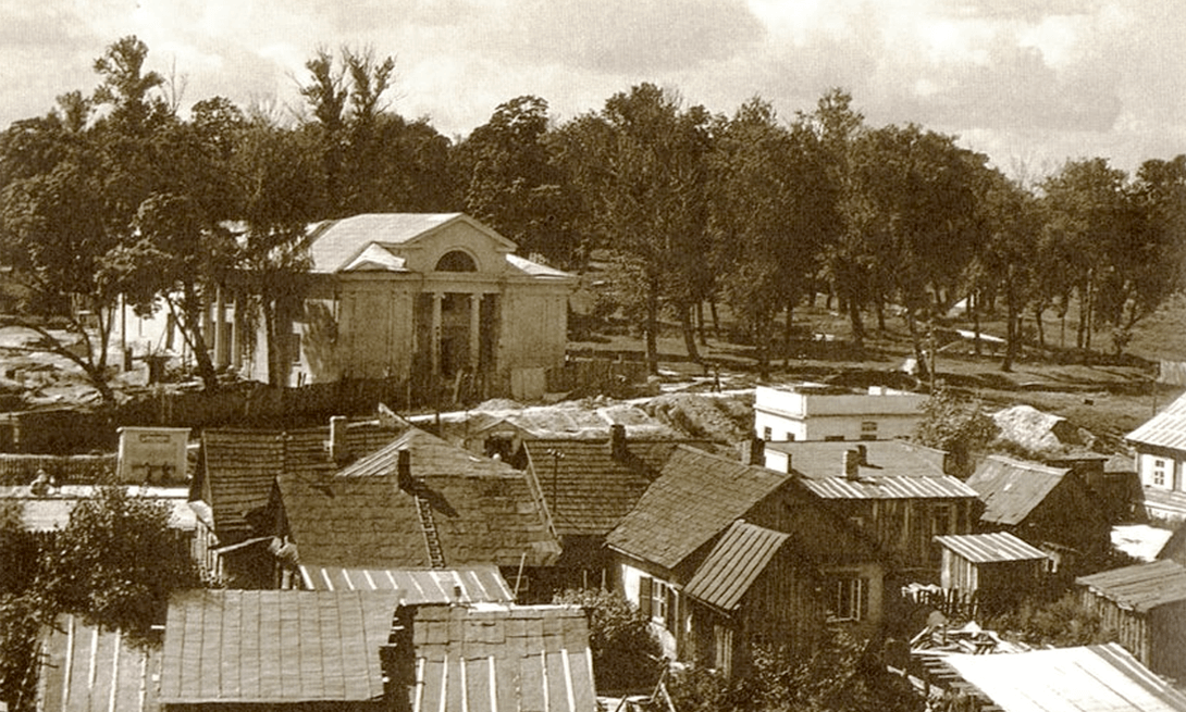 Раён Шанхай перад Моладзевым тэатрам. 60-я гг